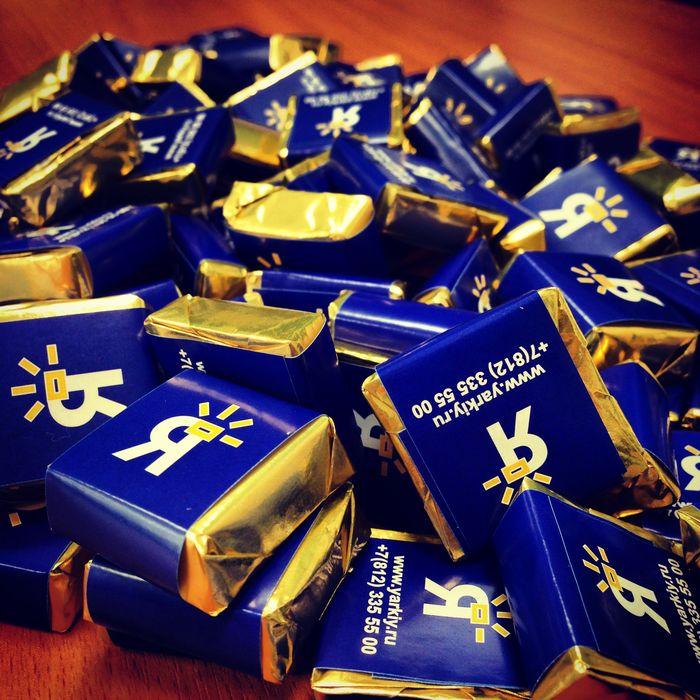 Промо-шоколадки «Яркий фотомаркет».