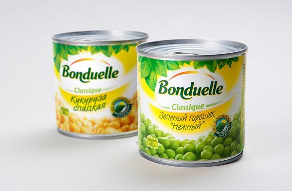 Новый дизайн упаковки овощных консервов Bonduelle Classique, брендинговое агентство Depot WPF