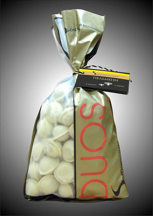 Упаковка для пельменей DUOS, «Щелковский мясоперерабатывающий комбинат», 2012г.