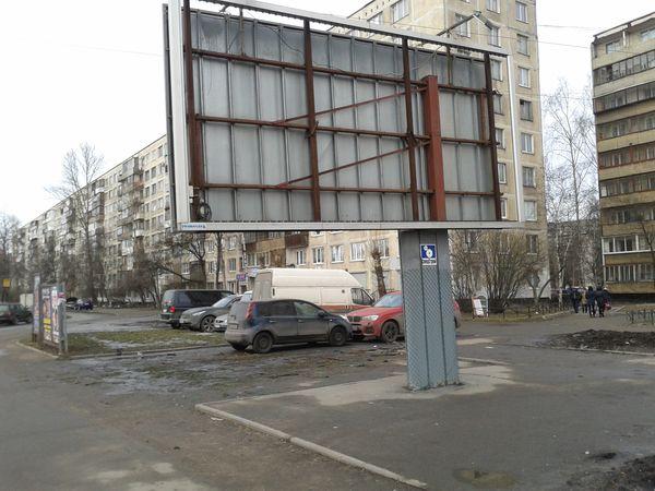 Восстановленная рекламная конструкция, февраль 2015 года.