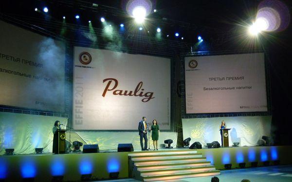 Брэнд PAULIG - лауреат конкурса «БРЭНД ГОДА/EFFIE 2011»