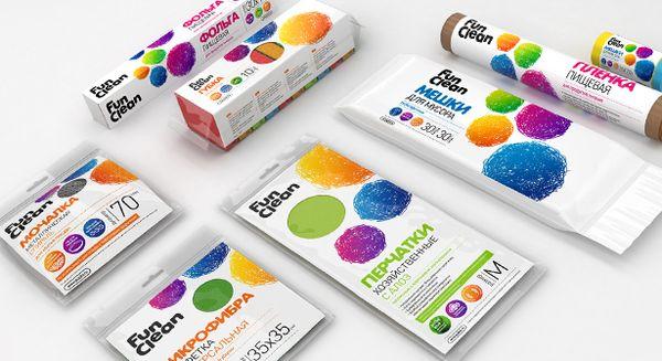 Торговая марка FUN CLEAN. Заказчик - группа компаний «Акцент». Разработчик - Coruna Branding, 2012г.