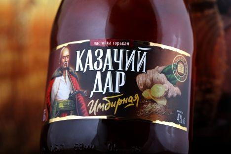 Этикетка настойки «Имбирная» торговой марки «Казачий дар», 2014 год.