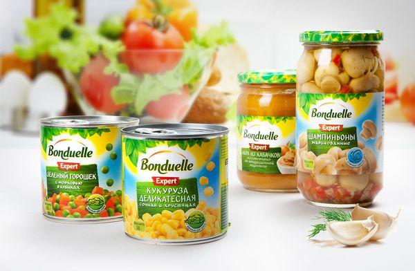 Новый дизайн упаковки овощных консервов Bonduelle Expert, брендинговое агентство Depot WPF
