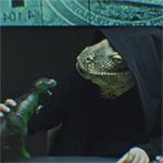 Банковская реклама: рептилии и загадочные символы