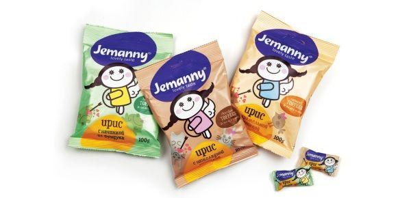 Новый кондитерский бренд фабрики «Ламзурь» – Jemanny. Разработчик - брендинговое агентство Depot WPF, 2012г.