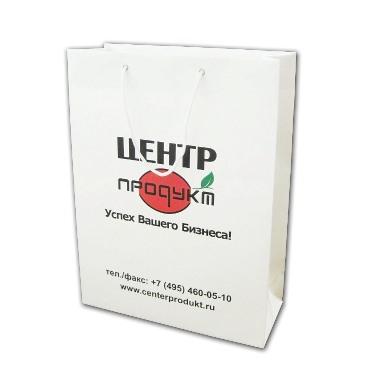 Пакеты с логотипом бумажные для ООО «ЦЕНТРпродукт» от компании «Дельфин»