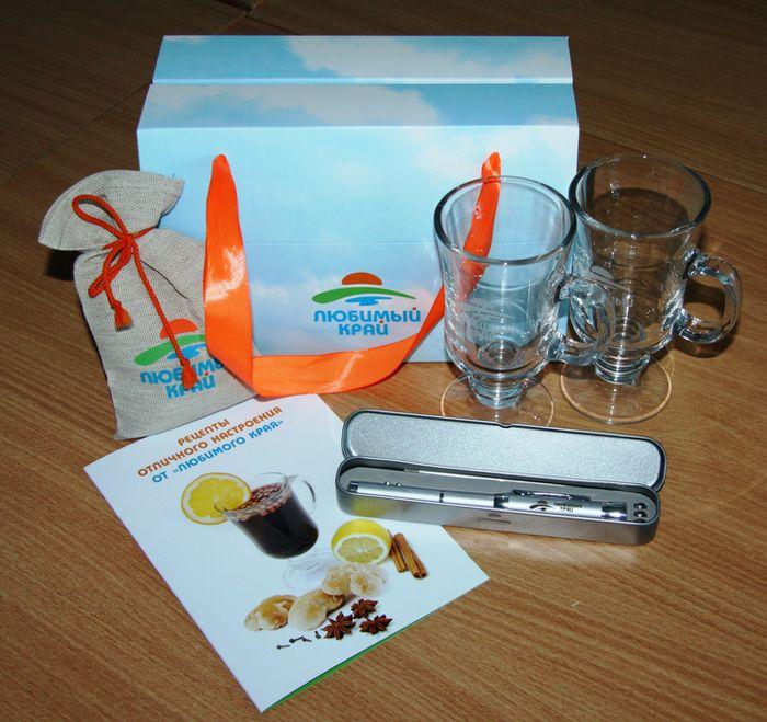 Набор сувениров от компании «Любимый Край» – VIP-подарок к Новому 2013 году.