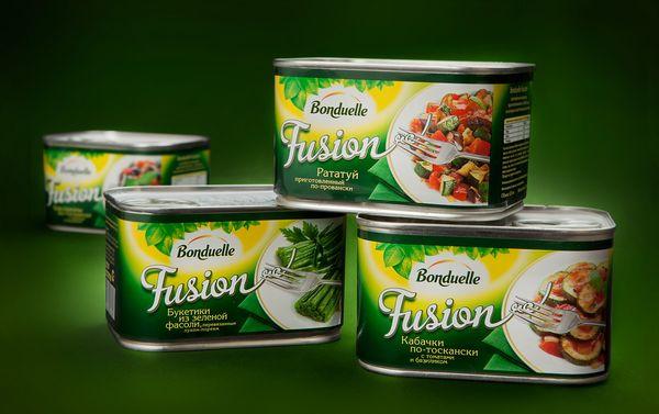 Новый дизайн упаковки овощных консервов Bonduelle Fusion, брендинговое агентство Depot WPF
